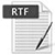 document Rich Text Format (RTF) icon